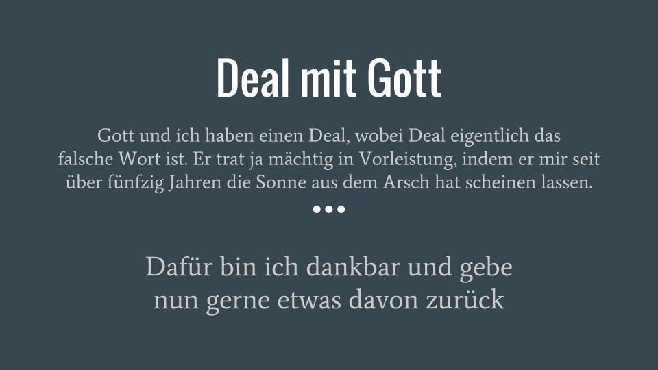 Deal mit Gott