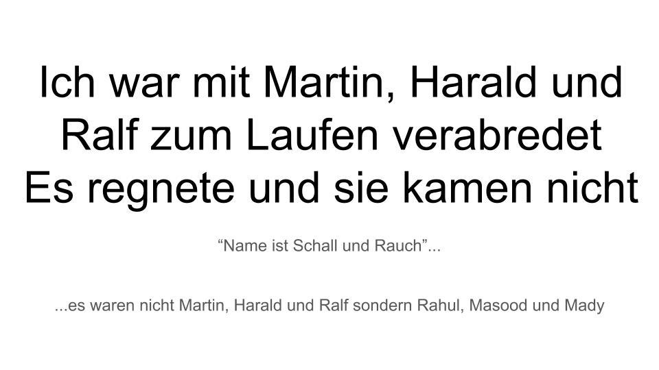 Ich war mit Martin
