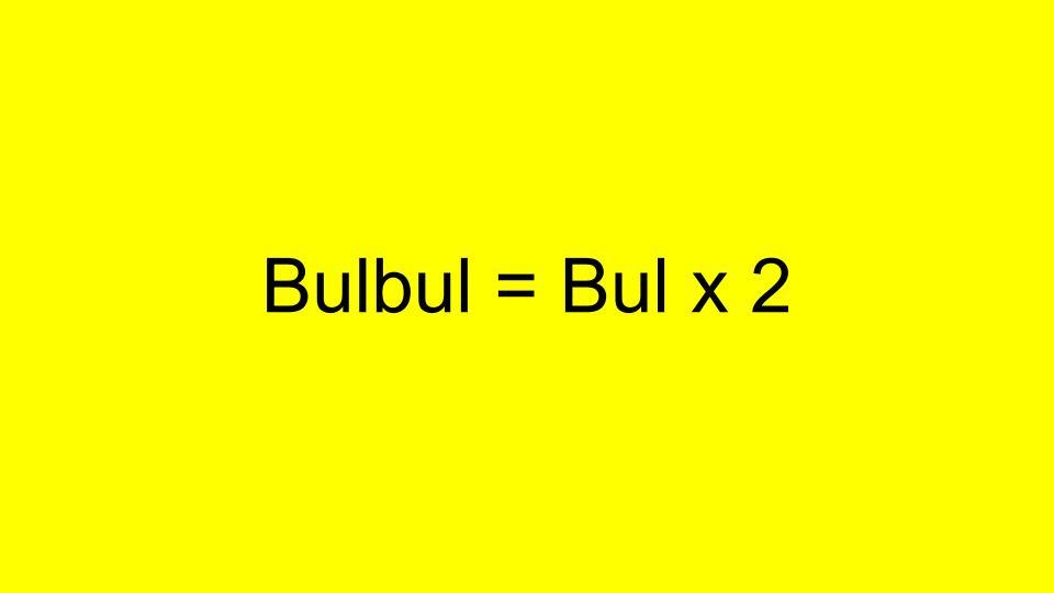 Bulbul = Bul x 2